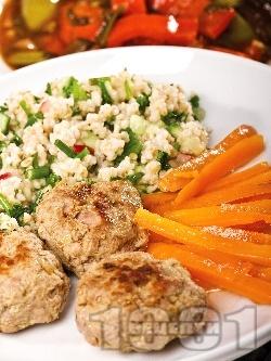 Пържени соеви кюфтенца с овесени ядки - снимка на рецептата